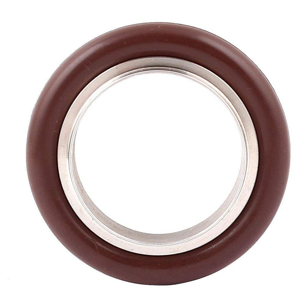 KF/NW Fluorine Rubber Flange Centering Clamp Ring for Degassing Chambers Vacuum Drying Ovens (KF40)