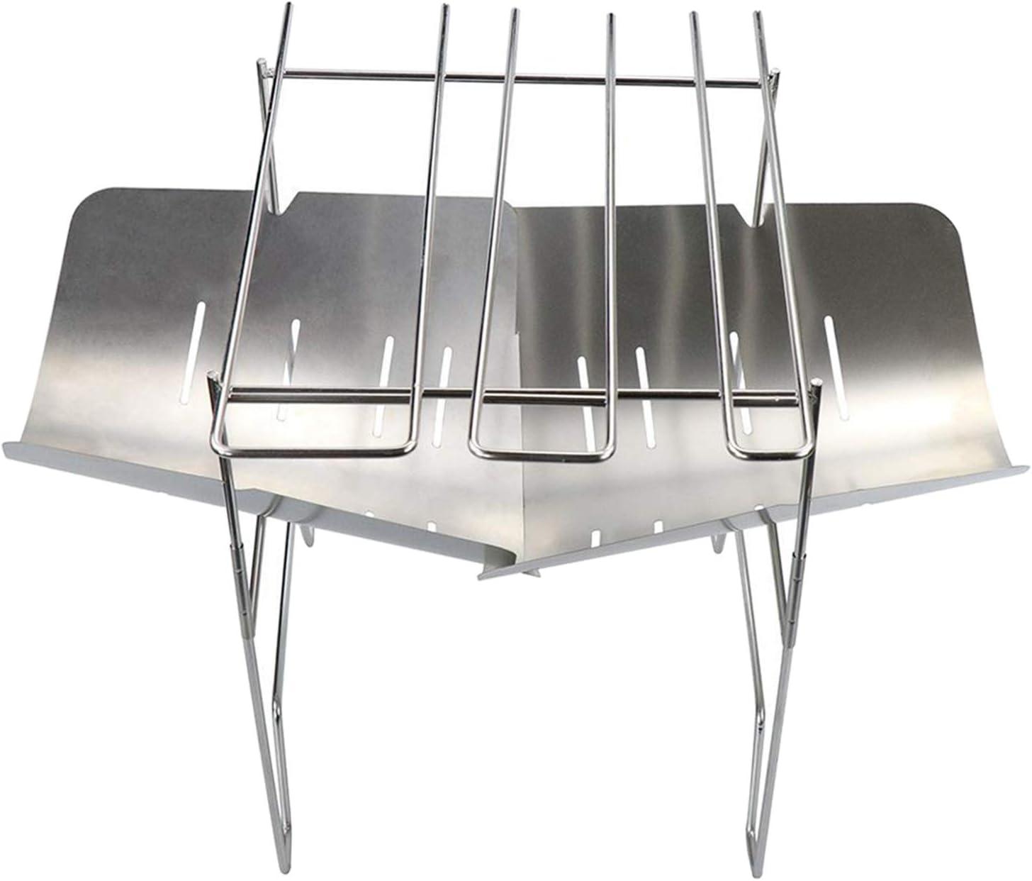 freneci Foldable Compact Barbecue BBQ Grill Charcoal Stove Shish Kabob Camping Cooker - 2Pcs Stove+BBQ Stick