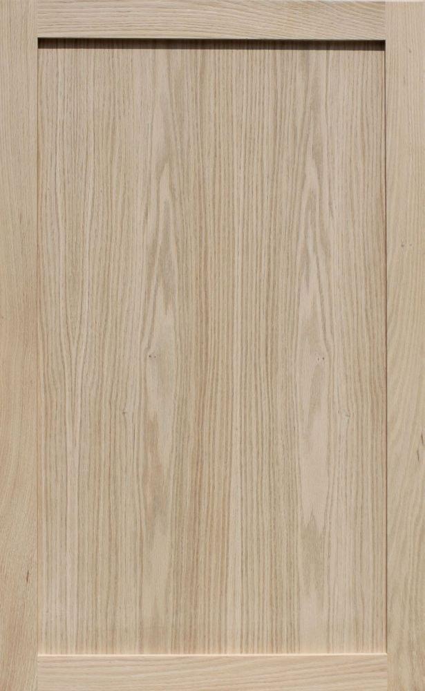 Unfinished Oak Shaker Cabinet Door by Kendor, 39H x 24W