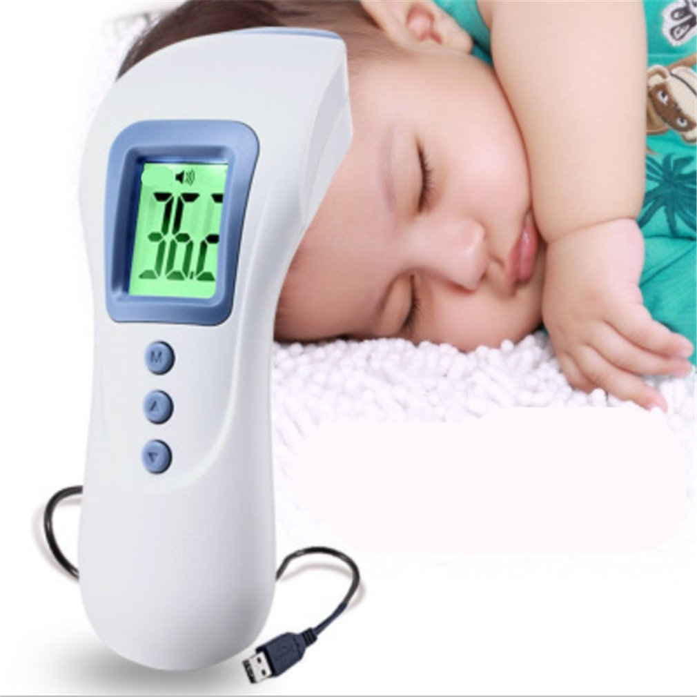 BIANJESUS Medical Thermometer High Precision Children Rechargeable Infrared Non-Contact Electronic Forehead Ear Digital Thermometer Baby Adults Temperatureaccurate Multifunctional by BIANJESUS