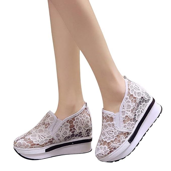 6d17758e3540d Elecenty scarpa Estive Donna elegant Scarpe con zeppa aumentate Scarpe  casual da donna Scarpe con piattaforma ...