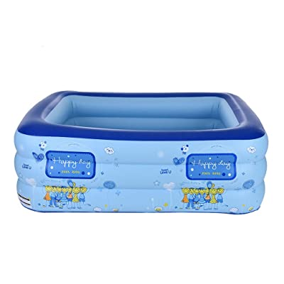Inflatable Swimming Pool, Summer Party Family Water Play Multi-Layer Inflatable Pool for Ages 3+ Kids and Adult (B, 3 Layer): Kitchen & Dining