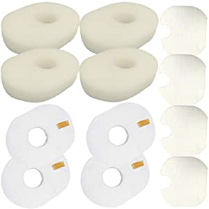VacuumPal 4 Packs Foam Felt Filter Replacement Kit for Shark Rocket Vacuum HV300 HV300W HV300C HV301C HV301 HV302 HV303 HV305 HV308 HV310 UV450, Replaces Shark Part XFFV300