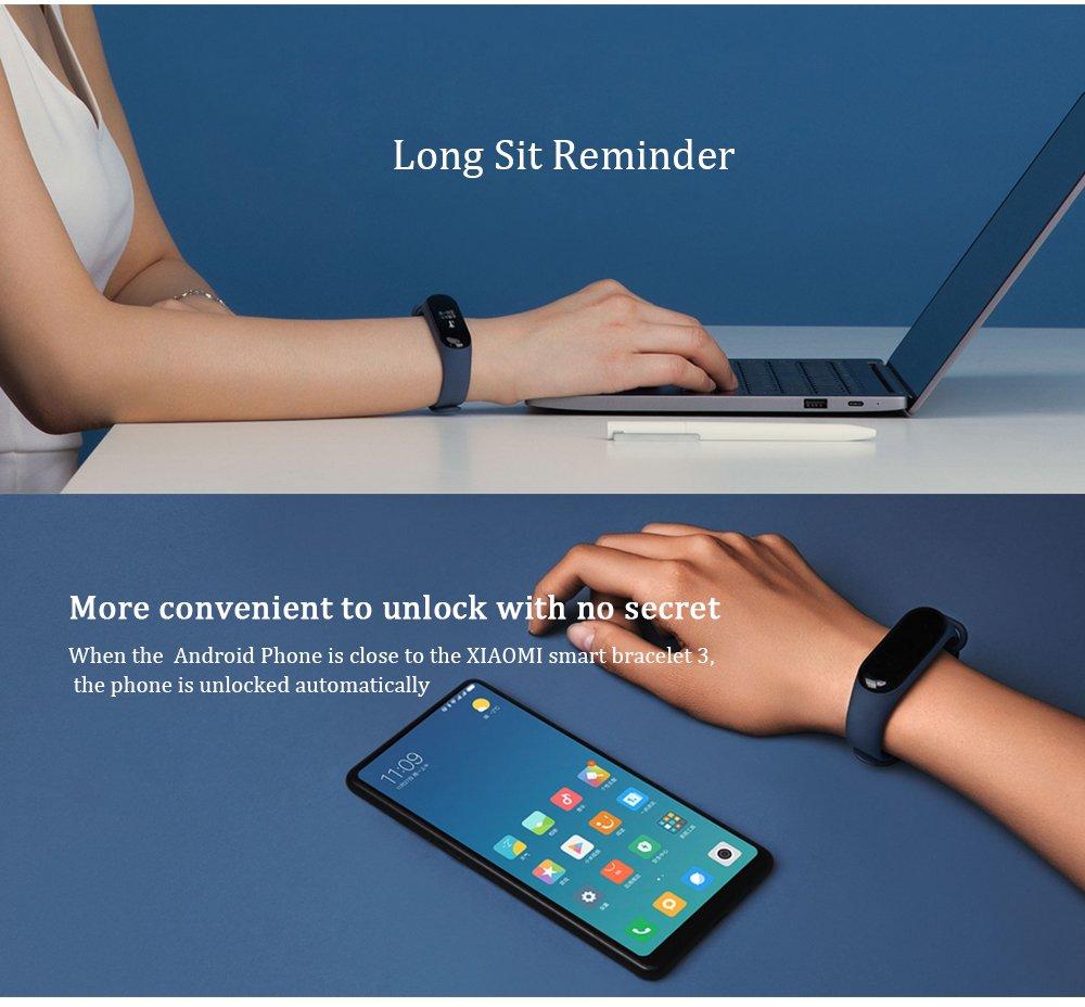 Keptfit Smart Bracelet XIAOMI 3 Fitness Tracker with Heart ...