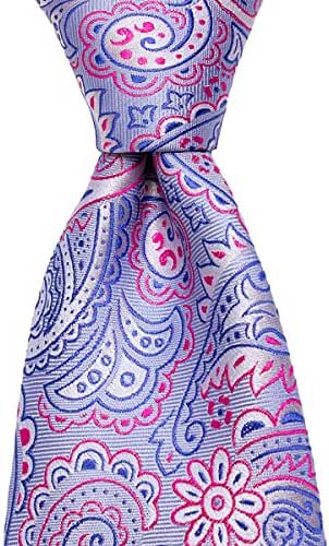 Classic Blue and Pink Paisley Floral Silk Necktie by TieThis | The Campton Tie