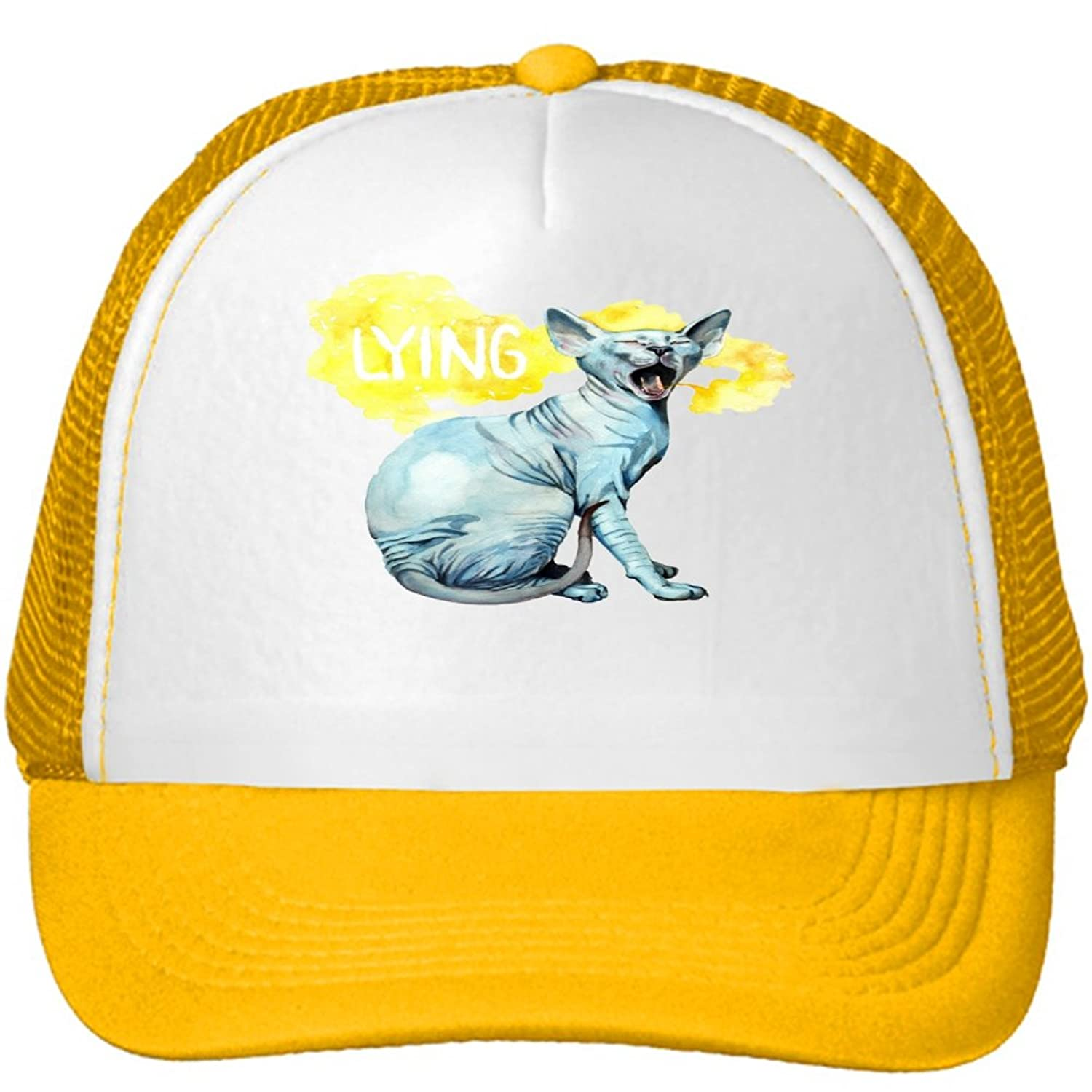 Spotlight on Lying Cat Mesh Snapback Trucker Hats Caps