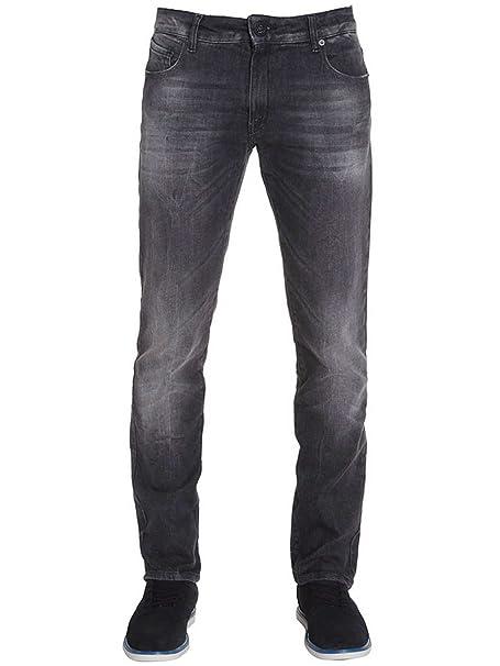 Volcom Hombre - Pantalones vaqueros Riser Jeans negro lavado ...