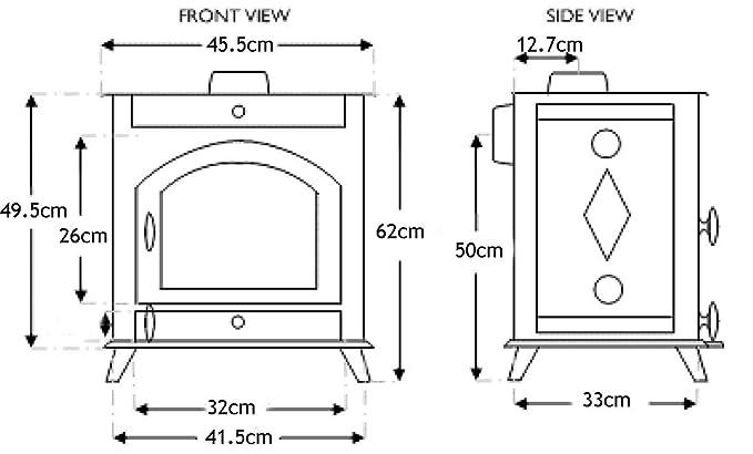FoxHunter JA010 - Chimenea de hierro fundido (7 KW ...