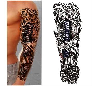 yyyDL Etiqueta engomada temporal impermeable del tatuaje Full ...
