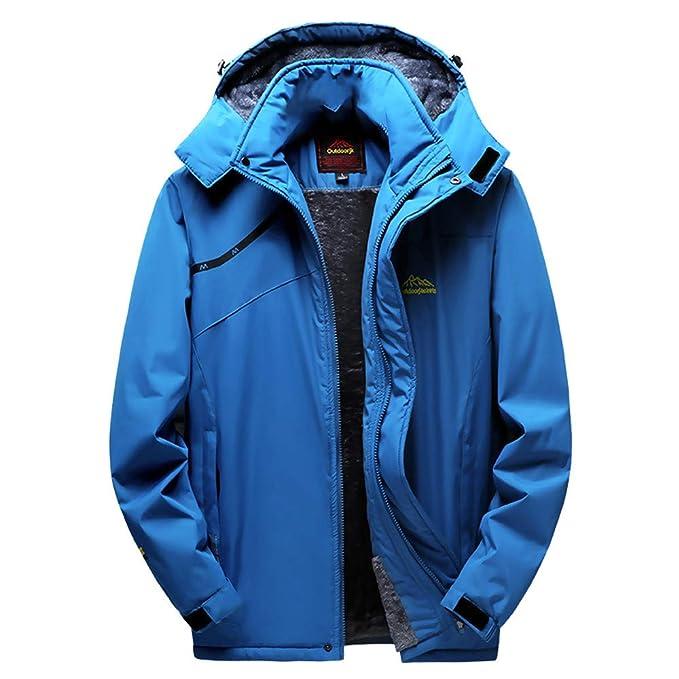 Yvelands Liquidación Abrigo de Invierno, Hombre Exterior Cachemir Engrosamiento con Capucha Cremallera Deporte Exterior Asalto Outwear Top Chaqueta: ...