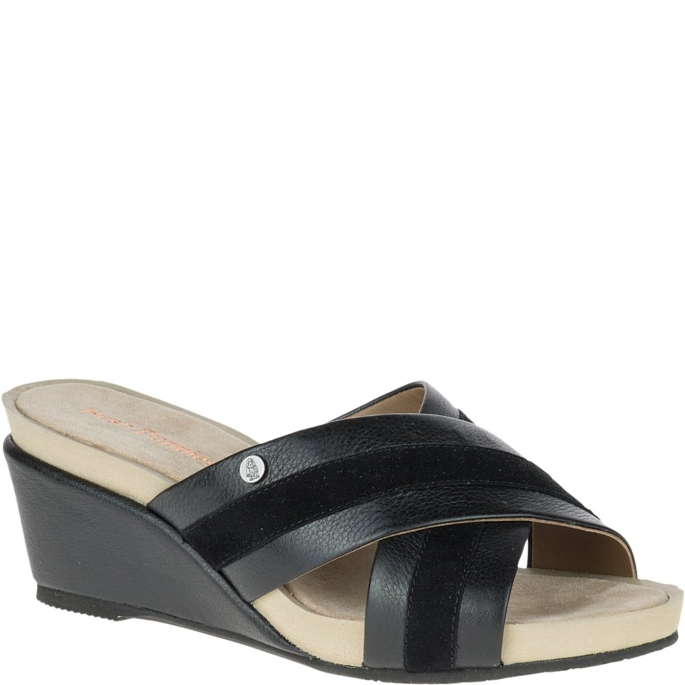 Hush Puppies Women's Envoi Cassale Wedge US|Black Sandal B01IRV63W2 9 W US|Black Wedge Leather/Suede ee7946