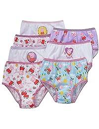Peppa Pig Little Girls Panties 7 Pairs Underwear Briefs, Multi Color, 2T/3T