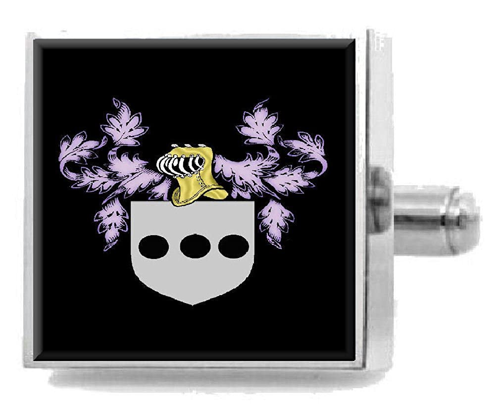 Select Gifts Penn England Family Crest Surname Coat Of Arms Cufflinks Personalised Case