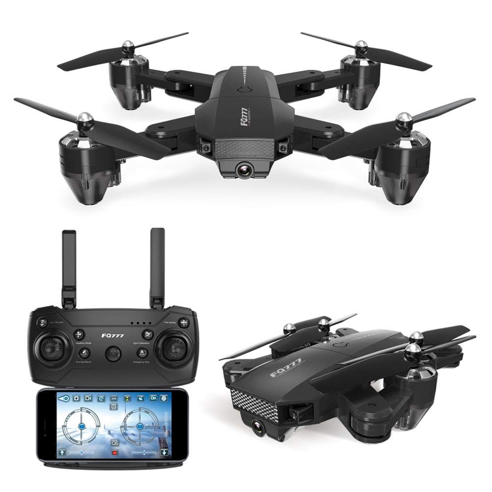 chinatera Foldable Mini Drone, RC Quadcopter with 2 Batteries, Easy to Operate for Beginners, Foldable Arms, 2.4G 6-Axis, Headless Mode, Altitude Hold, One Key Take Off and Landing by chinatera (Image #9)