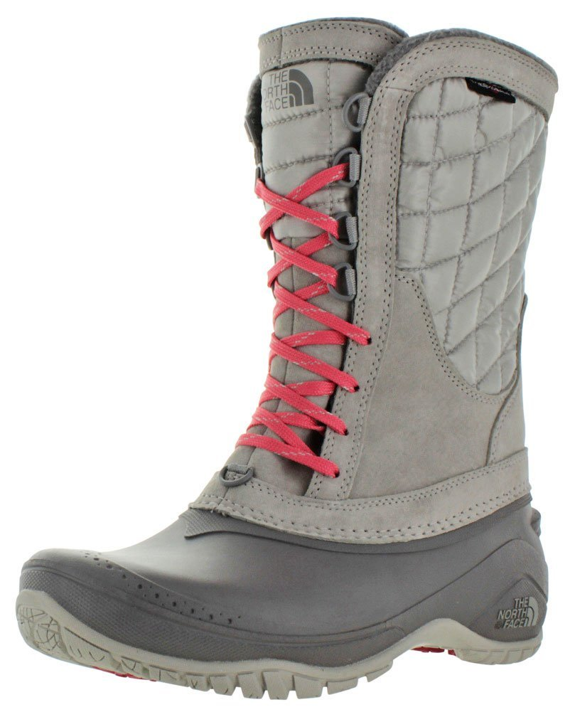 The North Face Women's Thermoball Utility Mid Boot - Dove Grey/Calypso Coral - 6