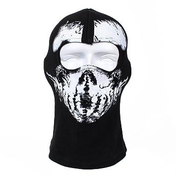 La cara llena de algodón máscara del fantasma de Ciclismo Esquí Airsoft CS Q-L-110