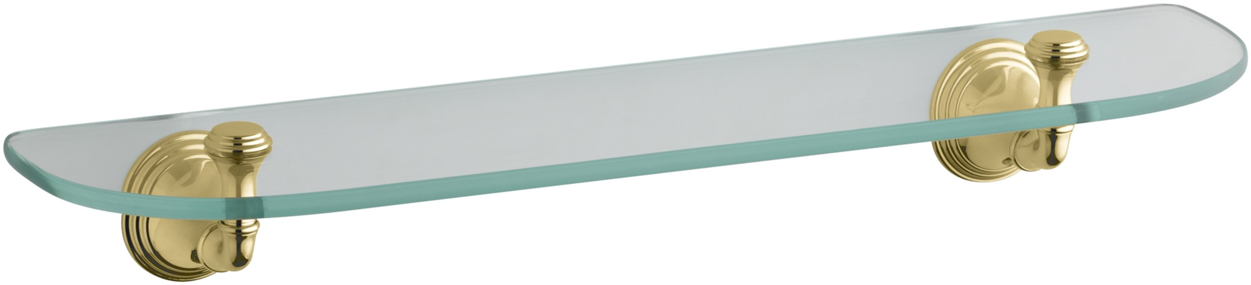 KOHLER K-10563-PB Devonshire Glass Shelf, Vibrant Polished Brass