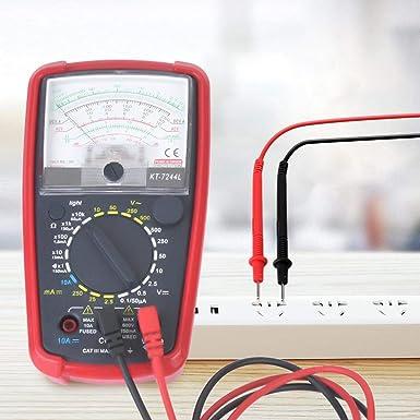 capacit/à resistenza tensione CA//CC frequenza tester multifunzione con LCD retroilluminato Kt7244l Multimetro analogico portatile di precisione ad alta sensibilit/à multifunzione corrente