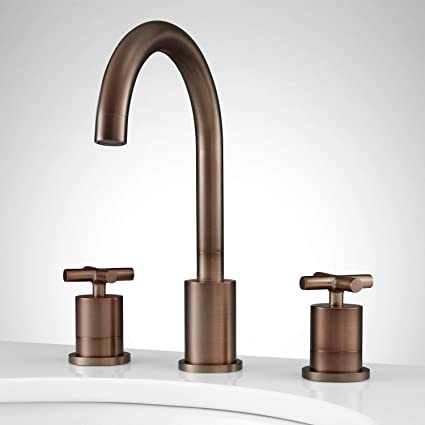 signature hardware 362798 exira 1 2 gpm widespread bathroom faucet rh amazon com  signature hardware bathroom fixtures