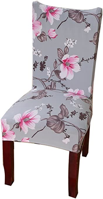 Yiwant Chair Cover Slipcover Short Dining Seat Protector Stretch Removable Washable Super Fit for Hotel,Dining Room,Ceremony,etc - 1 Pack, Style 1004-7