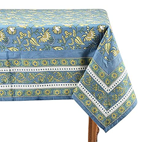 Mahogany Kaveri Rectangle Tablecloth, Indigo Blue