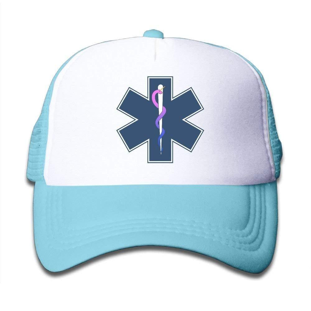 Boys/&Girls Unicorn EMT Sign Mesh Hat Snapback Baseball Caps Adjustable Trucker Caps