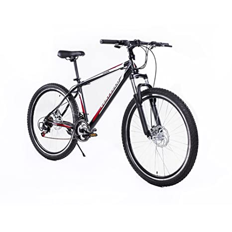 Black Mountain Bike 21 Speed Shimano Bicycles Mens Aluminum Full Suspension 26/""