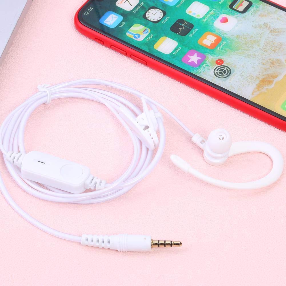 Starnearby Auricular de 3,5 mm con micr/ófono PTT para Xiaomi Mijia 1S walkie Talkie