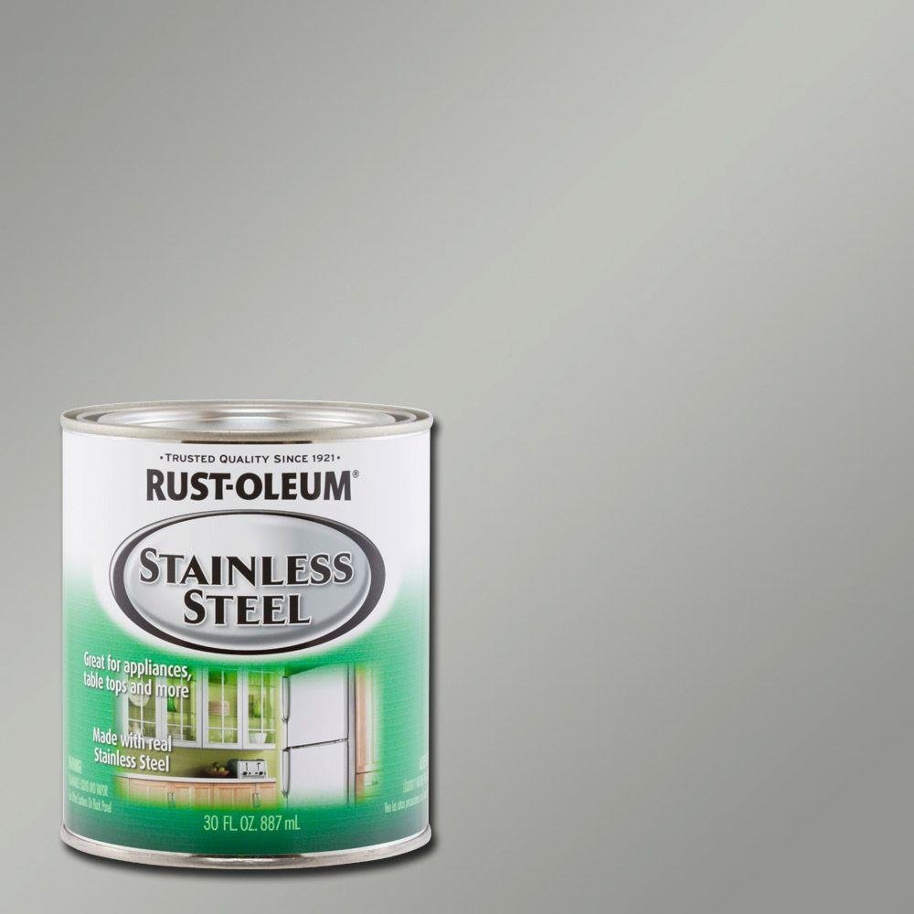 30 oz. Stainless Steel Satin Paint (2-Pack)