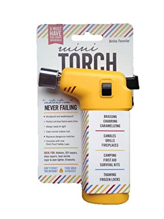 Amazon Com Bella Tavola Mini Torch Yellow Kitchen Dining