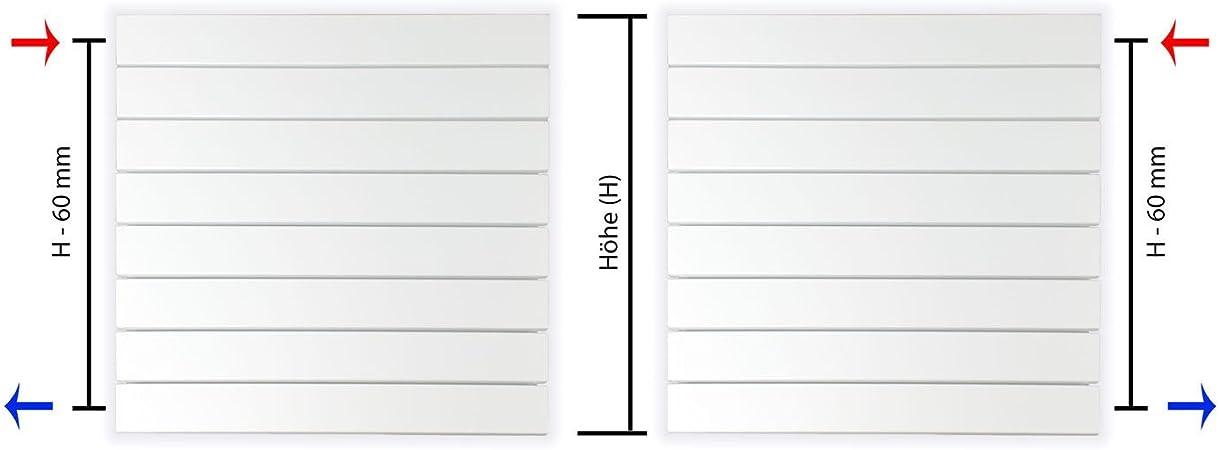 Design Paneelheizk/örper horizontal H/öhe 298 mm verschiedene Breiten Heizk/örper Badheizk/örper 298 mm x 600 mm