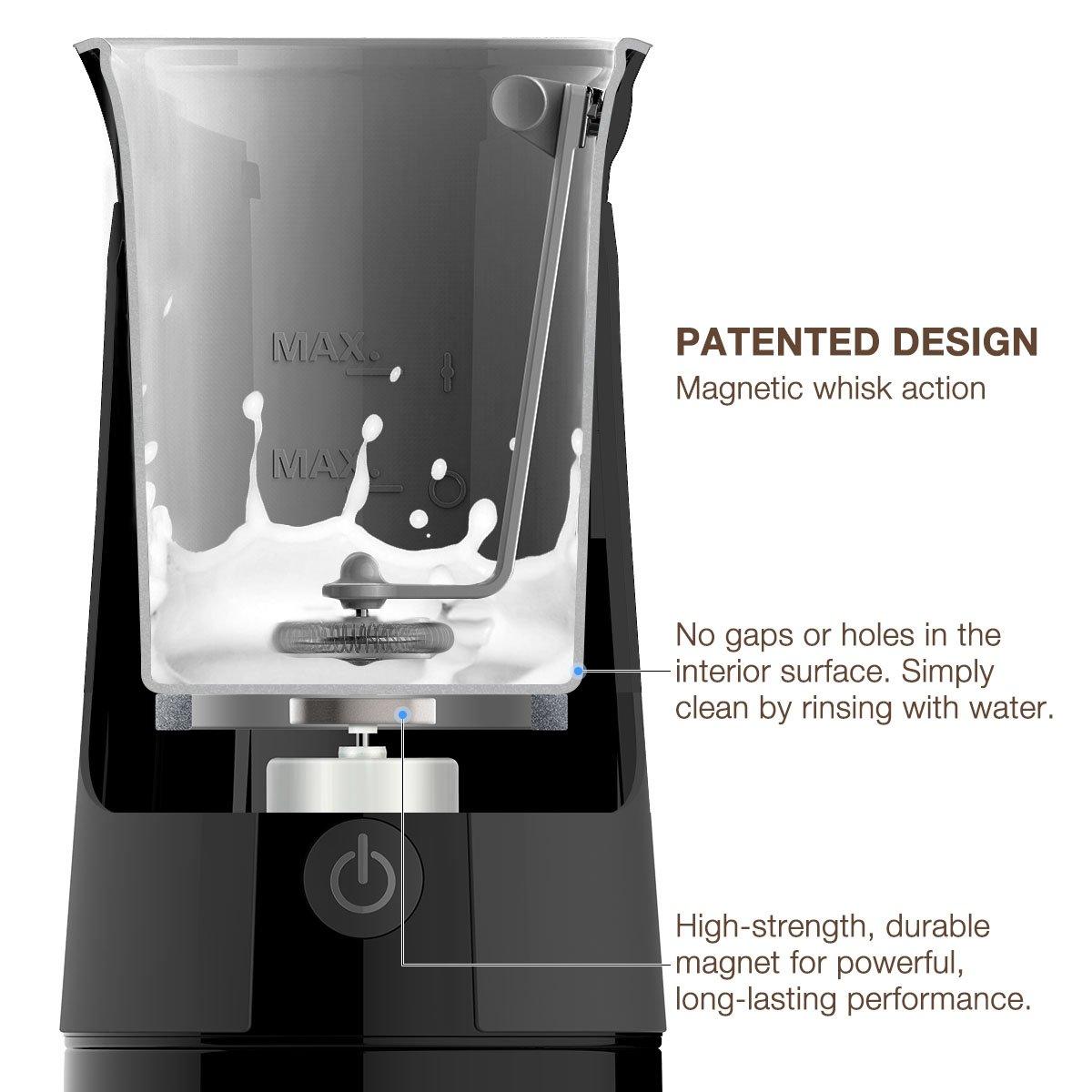 SimpleTaste espumador de Leche automático, batidor Calentador para café Cappuccino, Lattes y Bulletproof Coffee: Amazon.es: Hogar