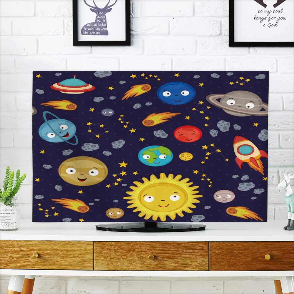 Analisahome Cover for Wall Mount tv Solar System Vector eps Cover Mount tv W25 x H45 INCH/TV 47''-50'' by Analisahome