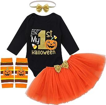 Baby-Toddler-Boy-Girl-Pumpkin-Costume-Halloween-Fancy-Dress-Party-Outfit UK