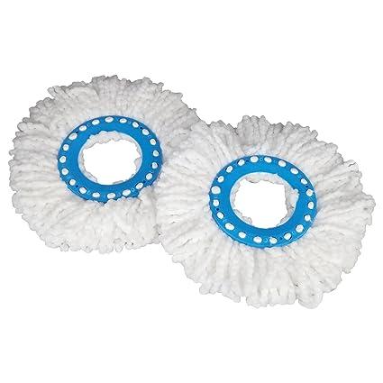 Primeway® Microfibre Mop Head Refill, Disc Dia. 16cm, Pack of 2