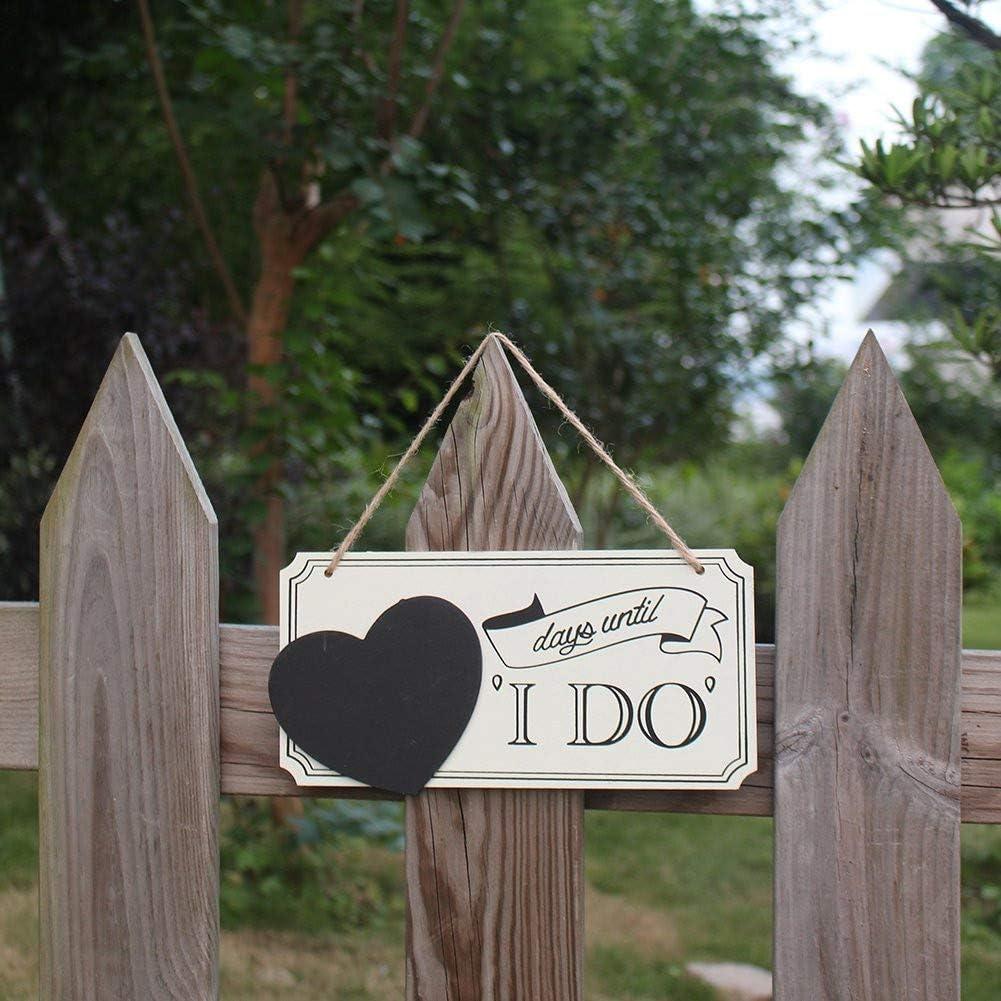 Personnalisé Mariage compte à rebours en bois jours jusqu/'à ce que mariage jours noir et argent