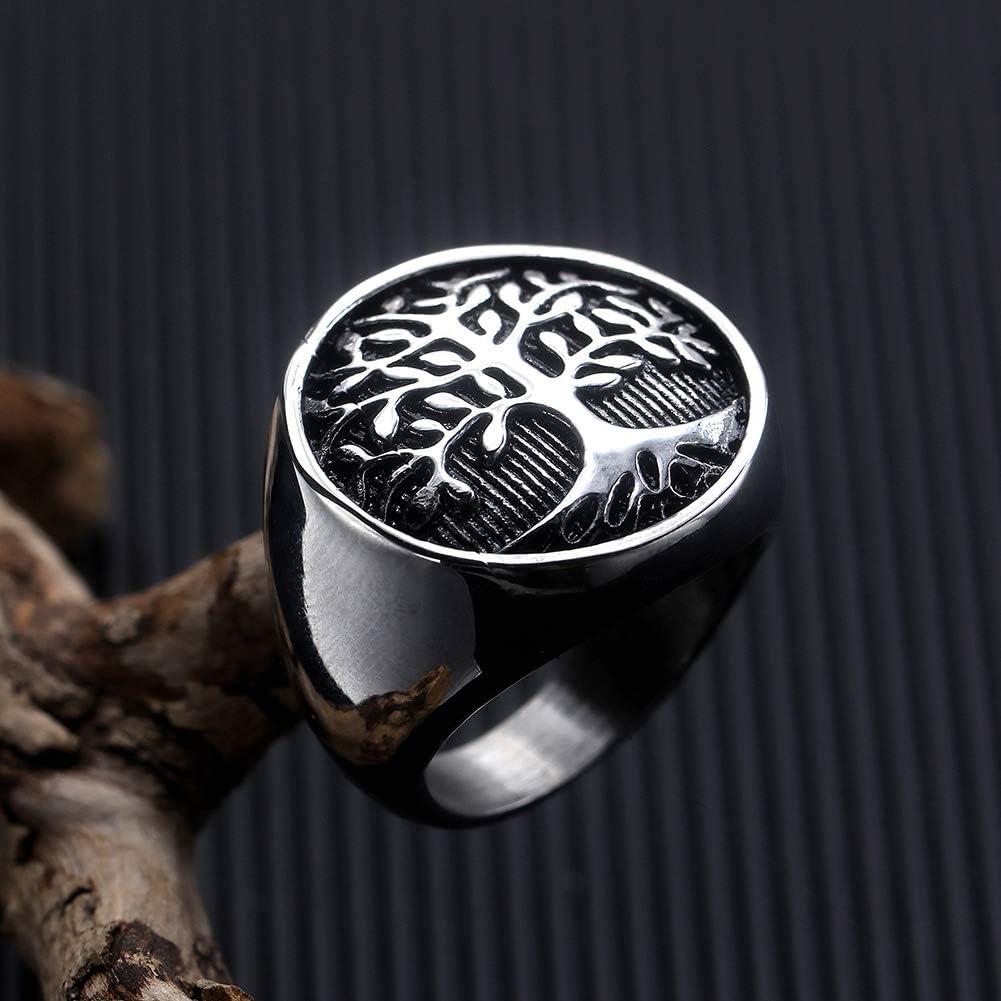Tonpot Bague en acier titane pour homme Motif arbre de vie cr/éatif vintage pour amoureux petit ami Cadeau danniversaire 8 Silver