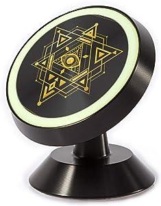 Tinmun Magnetic Phone Car Mount, Sacred Geometry Symbol Star Eye Universal Car Phone Holder for Dashboard