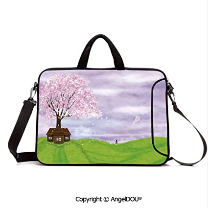 264ea982502e Amazon.com: AngelDOU Neoprene Printed Fashion Laptop Bag Single ...
