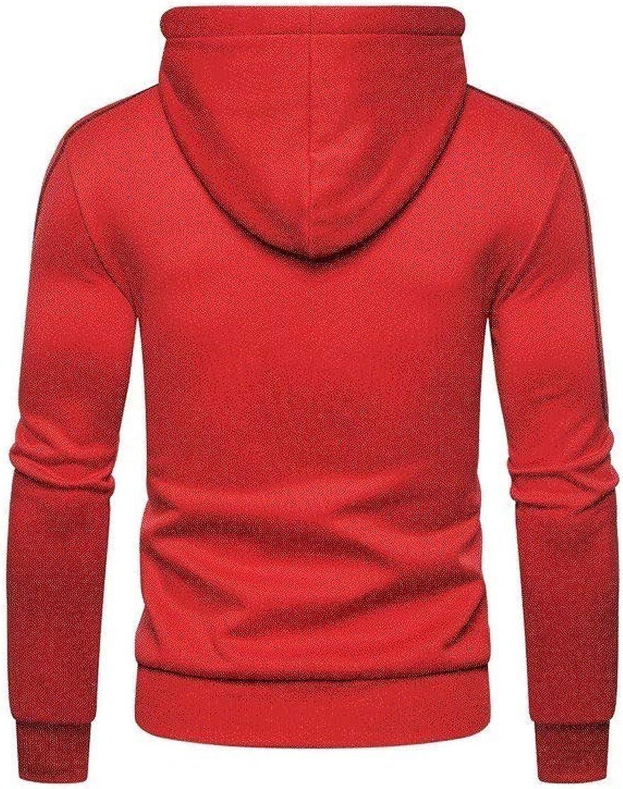 WillingStart Mens Open Front Casual Hood Coat Full-Zip Fall /& Winter Sweatshirts