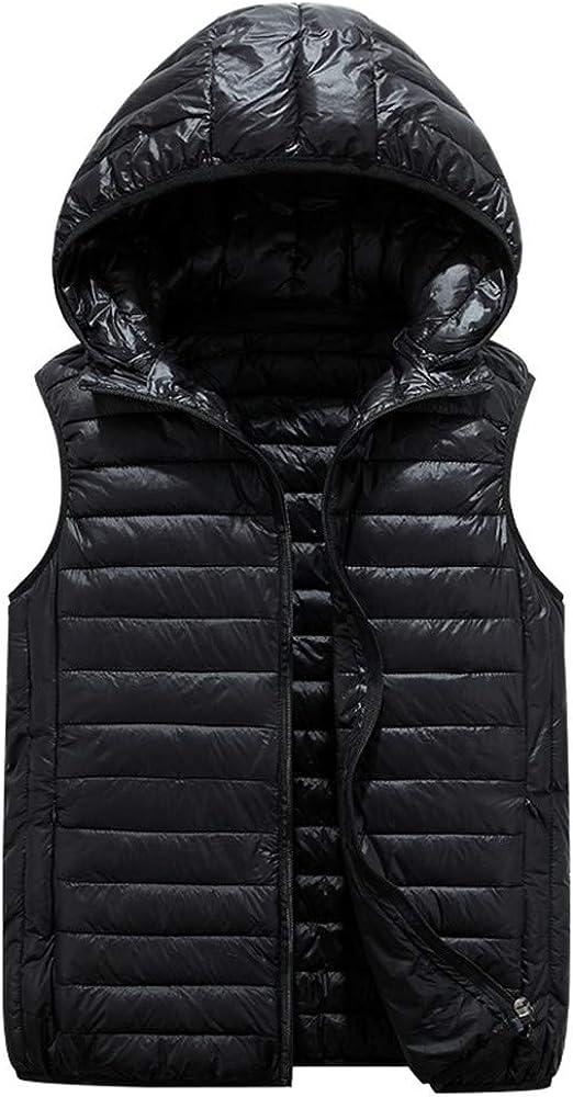 Bambini Piumino Gilet Inverno Cappotto con Cappuccio Ultraleggero Senza Maniche 5-10 Anni