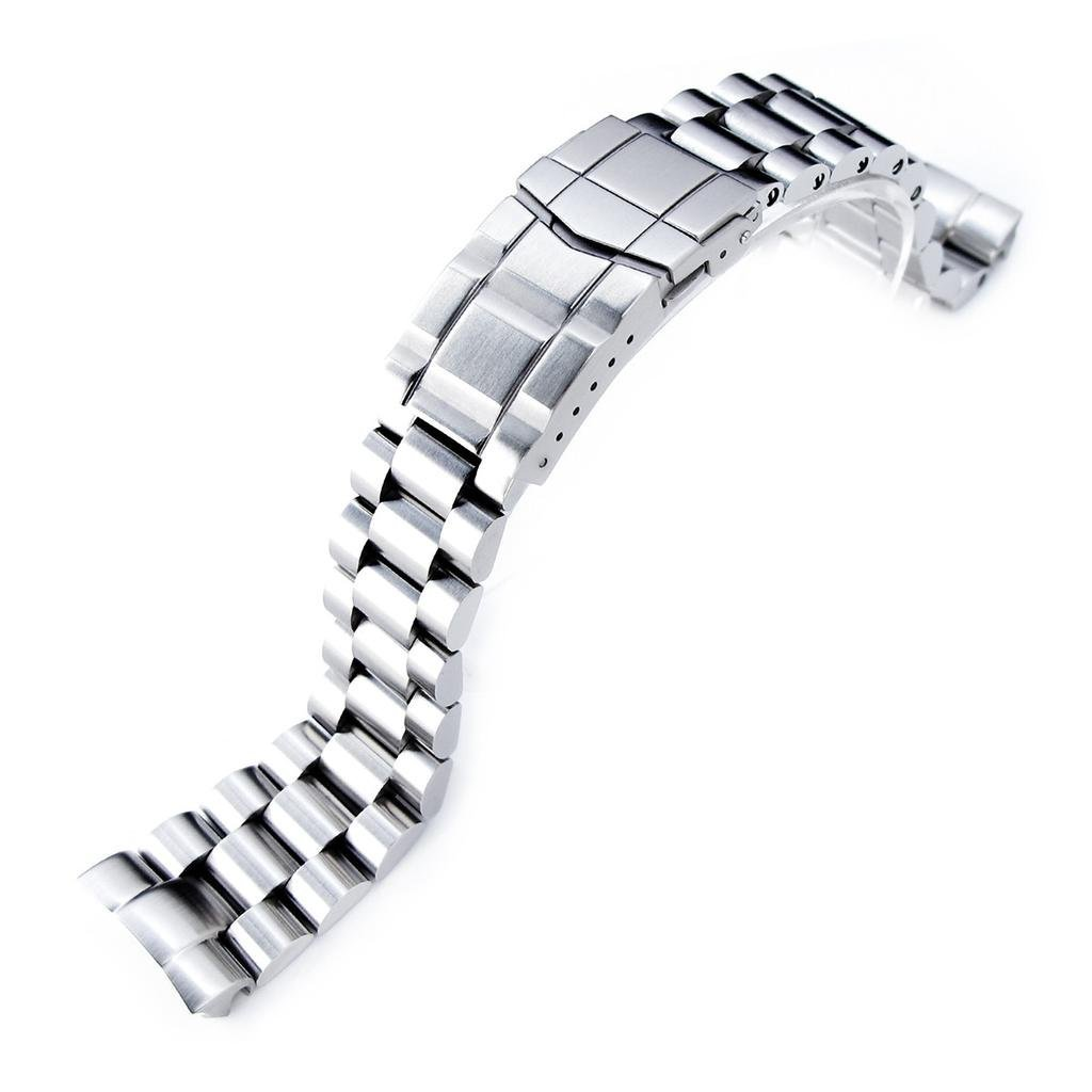 22mm Endmill Watch Bracelet for Seiko New Turtles SRP777 & SRPA21, Submariner Clasp Brushed