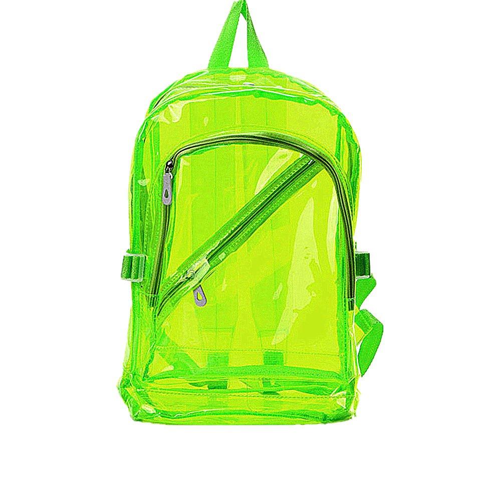 8ff00355ac96 Aspire Candy Semi-Transparent Shoulder Backpack Clear Color Girls Bag-Fluorescent  Green-1pcs