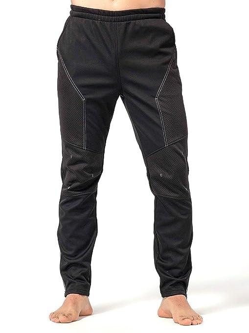salvare cc7fa 2dafd Inbike Pantaloni Lunghi Termici Invernali per Cicilsmo da Uomo