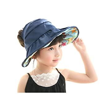 Children Wide Brim Sun Hat - Girls UV Protection Quick Dry Breathable  Waterproof Beach Cap - 95b23b4f1217