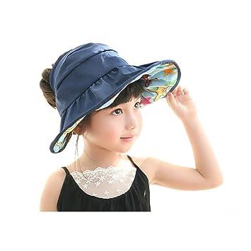 Children Wide Brim Sun Hat - Girls UV Protection Quick Dry Breathable  Waterproof Beach Cap - f9427eb1f4f