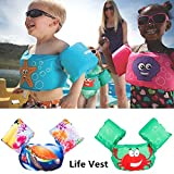 Bingirl Life Vest for Kids Water Sports Life Jacket Children Learning Swimming Snorkeling Buoyancy Vest Swim Trainer PFD Sea Turtle