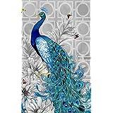 niceEshop(TM) 3D Diamond Embroidery Painting Rhinestone DIY Peacock Mosaic Room Decoration, Left
