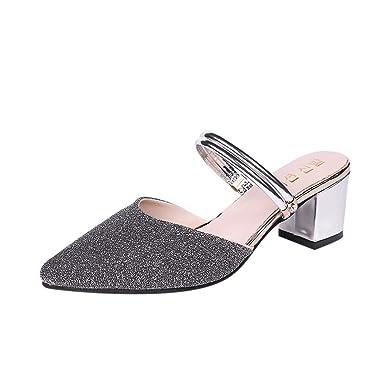 Sandale Chaussures Paillettes À Femme De Mode Talons femmes Alaso roxeCdB