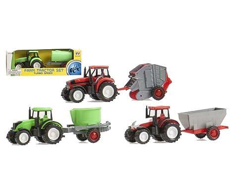 Cosas Internacionales - Tractor plástico, 6 modelos, 20 cm (18696)